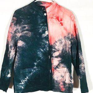 Eileen Fisher Custom Tie Dye Shirt Jacket Blazer